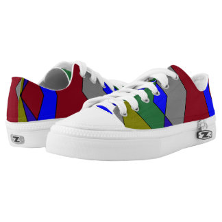 Retro Colorful Diamond Abstract Low Tops