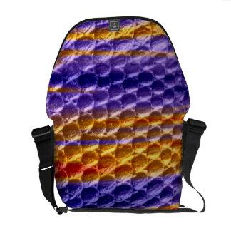 Retro colorful graphic design courier bags