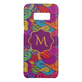 Retro Colorful Jewel Tone Swirly Wave Pattern Case-Mate Samsung Galaxy S8 Case