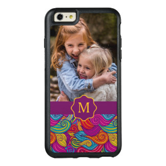 Retro Colorful Jewel Tone Swirly Wave Pattern OtterBox iPhone 6/6s Plus Case