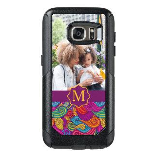 Retro Colorful Jewel Tone Swirly Wave Pattern OtterBox Samsung Galaxy S7 Case
