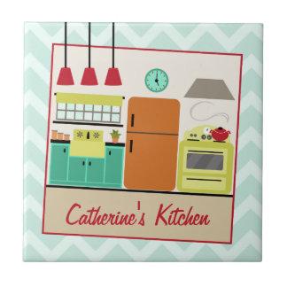 Retro Colorful Kitchen Tile