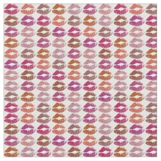 Retro Colorful Lips #12 Fabric