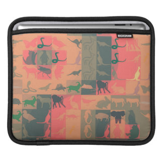 Retro Colorful Modern Animals Pattern Sleeves For iPads