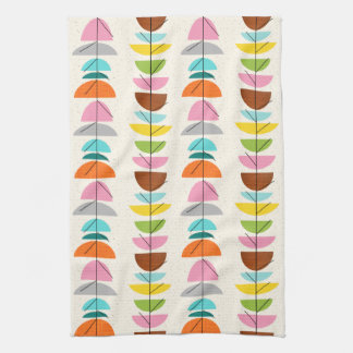 Retro Colorful Nests Kitchen Towel