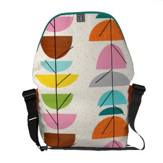 Retro Colorful Nests Rickshaw Messenger Bag