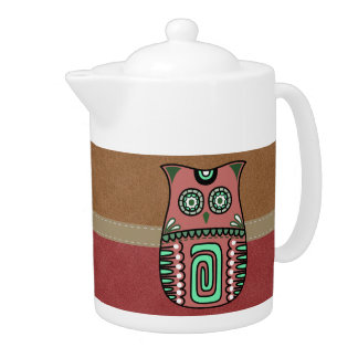 Retro Colorful Owl Boho Bohemian Bird Custom