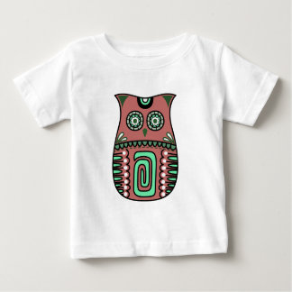 Retro Colorful Owl Boho Bohemian Bird Custom Baby T-Shirt