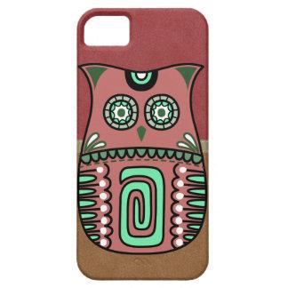 Retro Colorful Owl Boho Bohemian Bird Custom Barely There iPhone 5 Case
