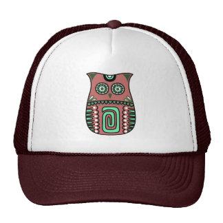Retro Colorful Owl Boho Bohemian Bird Custom Cap