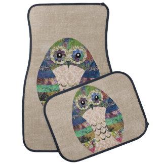Retro Colorful Owl Boho Bohemian Bird Custom Car Mat