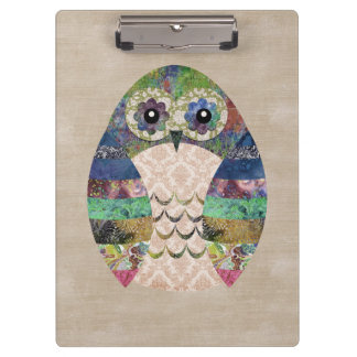 Retro Colorful Owl Boho Bohemian Bird Custom Clipboard