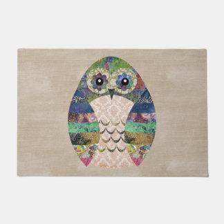 Retro Colorful Owl Boho Bohemian Bird Custom Doormat