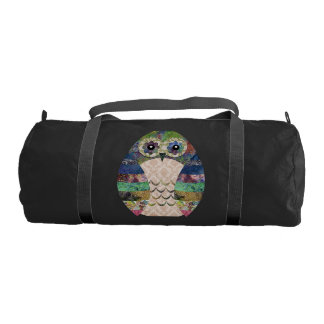 Retro Colorful Owl Boho Bohemian Bird Custom Gym Bag