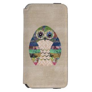 Retro Colorful Owl Boho Bohemian Bird Custom Incipio Watson™ iPhone 6 Wallet Case