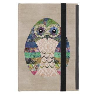 Retro Colorful Owl Boho Bohemian Bird Custom iPad Mini Case