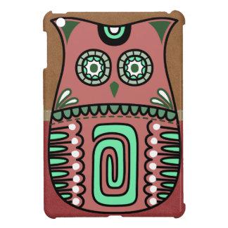 Retro Colorful Owl Boho Bohemian Bird Custom iPad Mini Cases