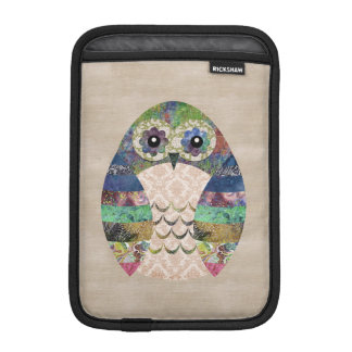 Retro Colorful Owl Boho Bohemian Bird Custom iPad Mini Sleeve