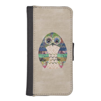 Retro Colorful Owl Boho Bohemian Bird Custom iPhone SE/5/5s Wallet Case