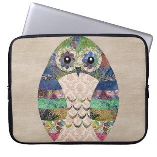Retro Colorful Owl Boho Bohemian Bird Custom Laptop Sleeve
