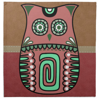 Retro Colorful Owl Boho Bohemian Bird Custom Napkin