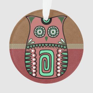 Retro Colorful Owl Boho Bohemian Bird Custom Ornament