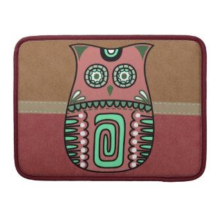 Retro Colorful Owl Boho Bohemian Bird Custom Sleeve For MacBooks