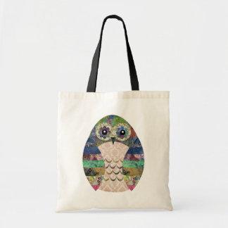 Retro Colorful Owl Boho Bohemian Bird Custom Tote Bag