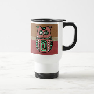 Retro Colorful Owl Boho Bohemian Bird Custom Travel Mug