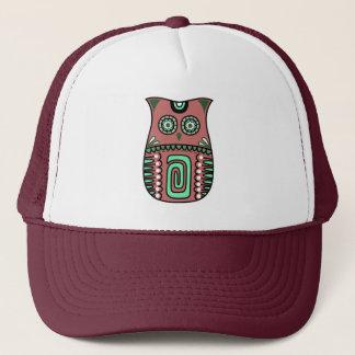 Retro Colorful Owl Boho Bohemian Bird Custom Trucker Hat