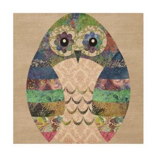 Retro Colorful Owl Boho Bohemian Bird Custom Wood Wall Art