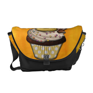Retro Colorful Party Cupcakes Courier Bags