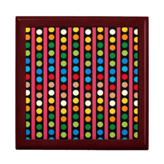 Retro Colorful Pattern Keepsake Box
