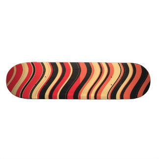 Retro Colorful Stripes Decorative Art 3 18.1 Cm Old School Skateboard Deck