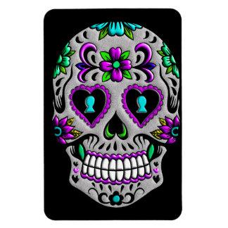Retro Colorful Sugar Skull Magnet