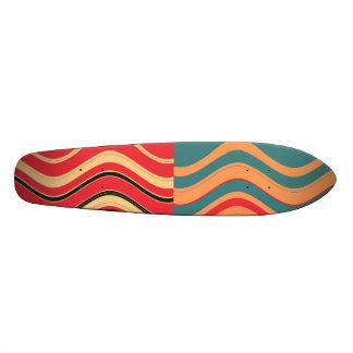 Retro Colorful Wave Stripes Decorative Art 3 21.3 Cm Mini Skateboard Deck