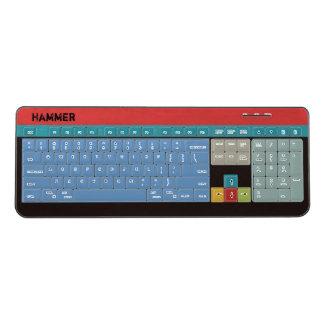 Retro Colors Personalized Monogram Wireless Keyboard