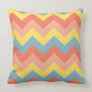 Retro Colour Chevron Cushion