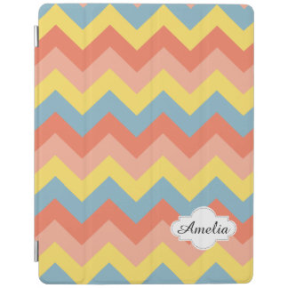Retro colour chevron iPad cover