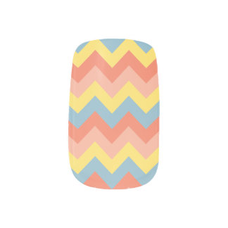 Retro colour chevron nail wrap
