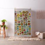 Retro Colour Polka Dot Circles Pattern #5 Fabric