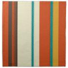 Retro Colourful Chevron Striped Pattern Party Napkin