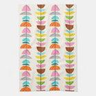 Retro Colourful Nests Kitchen Towel