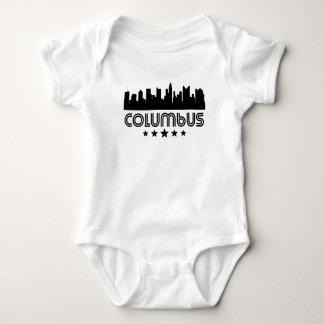 Retro Columbus Skyline Baby Bodysuit