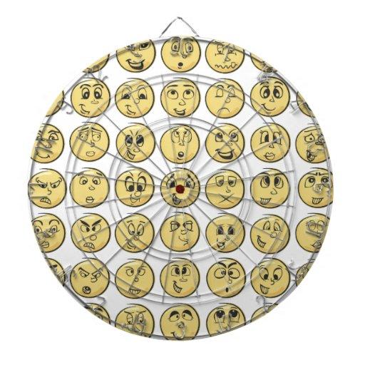 Retro Comic Book Emoji Pattern Dart Board