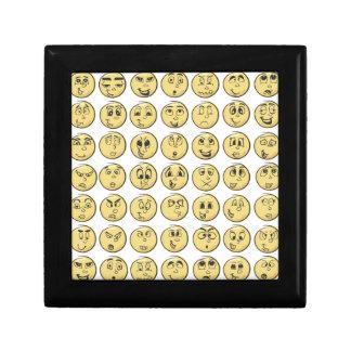 Retro Comic Book Emoji Pattern Small Square Gift Box