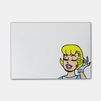 Retro Comic Strip Beauty Post-It Notes