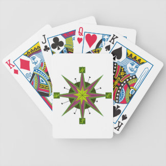 Retro Compass Design Bicycle Poker Cards