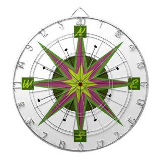 Retro Compass Design Dart Boards