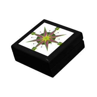 Retro Compass Design Small Square Gift Box